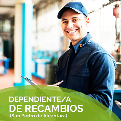 DEPENDIENTE/A DE RECAMBIOS (San Pedro de Alcántara)